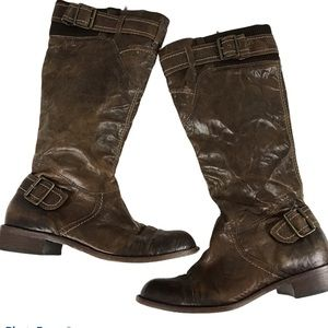 Schuler and Son Distressed Boho Brown Leather Boot